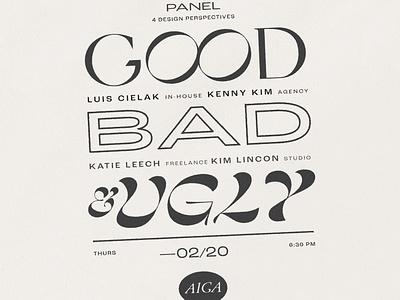 AIGA Panel Flyer panel invitation type typography aiga