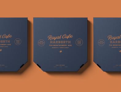 Royal Cafe Branding+ lynx logo menu food dinner philadelphia restaurant branding pizza logo restaurant pizza