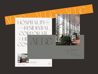 AE Design Group | Branding Concepts lynx monogram elegant architect minimal logo website branding interior design