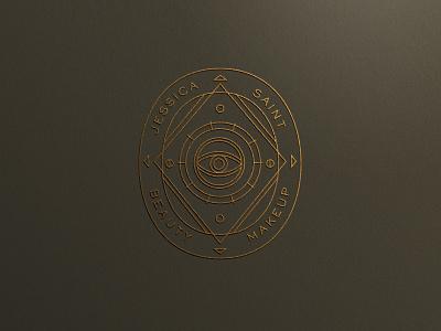 WIP | J.Saint Branding geometric beauty lynx gothic spiritual compass brand logo feminine makeup eye