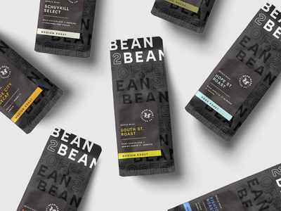 Bean2Bean   Packaging color philly retail packaging coffee logo branding lynx
