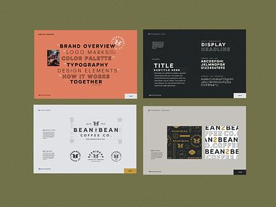 Bean2Bean | Brand Identity & Style Guide modern vintage colorful plant lynx identity branding packaging logo coffee