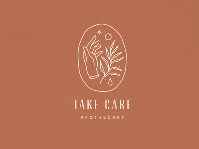 Take Care Apothecary | Branding Concept natural organic stars sun droplet female plant hand apothecary wellness