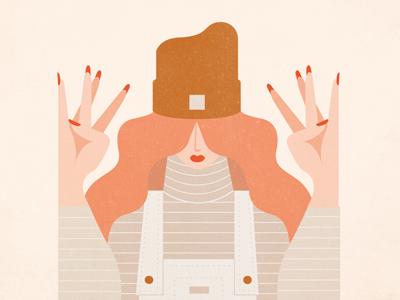 International Women's Day ipadpro overalls international day philadelphia nails empowerment beanie illustration lynx women