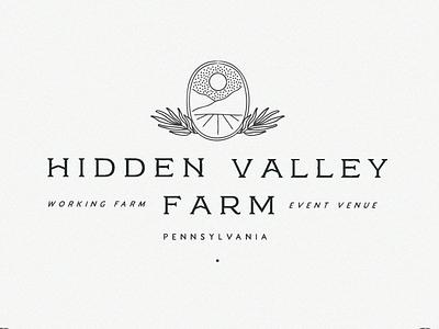 Hidden Valley Farm logo event farm typography valley sun philadelphia lynx plant branding venue