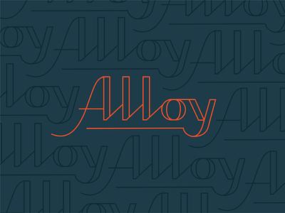 Alloy | Handwritten Font metal event line venue alloy font typography branding philadelphia lynx