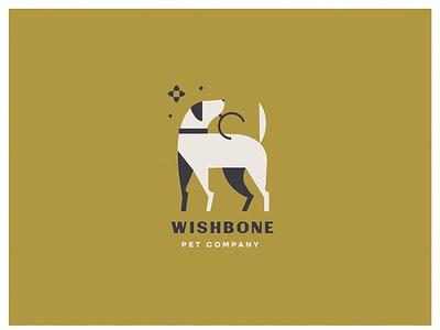 Wishbone | Branding Concept dog logo branding geometric bone wish vet pet dog lynx