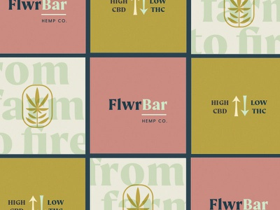 FlwrBar Hemp Co. | Branding logo feminine fire farm weed cbd cannabis philadelphia lynx branding hemp flower