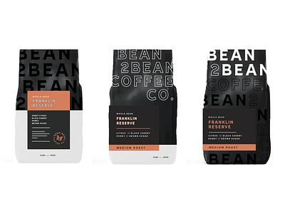 WIP | New Packaging for Bean 2 Bean print logo branding type bean philadelphia packaging labels coffee