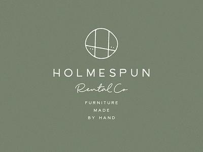 Holmespun | Unchosen Concept logo branding h rental furniture holmespun lynx feminine event wood