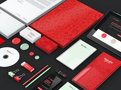 Brandiegames VIsual Identity system web app visual  identity identity design stationery logo branding