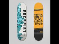 ESCAPIST Skateboarding Rebrand: Skateboard Designs
