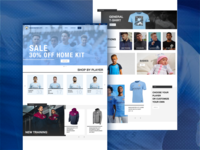 Daily UI #003 Landing Page - Manchester City
