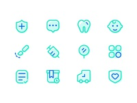 fish+health app Health related icons