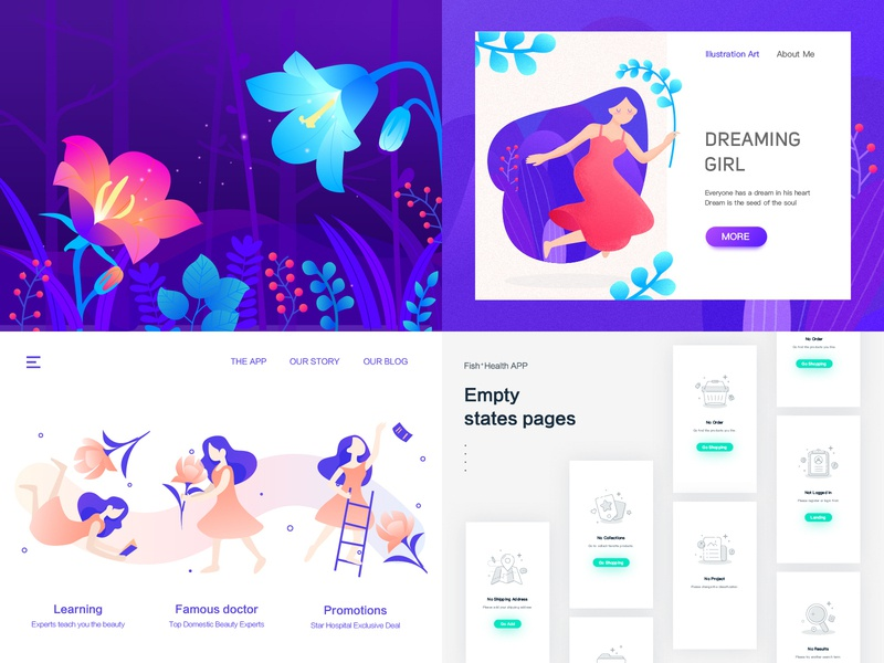 Top4Shots from 2018 top4shots from 2018 sketch states pages design ux ui illustration app