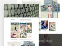 Web page for LE COQ SPORTIF Tennie