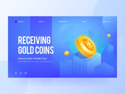 2.5d blue illustration blues 2.5d illustration vector illustration h5 web blue coin gold city 2.5d vector financial ui design illustration ux ui