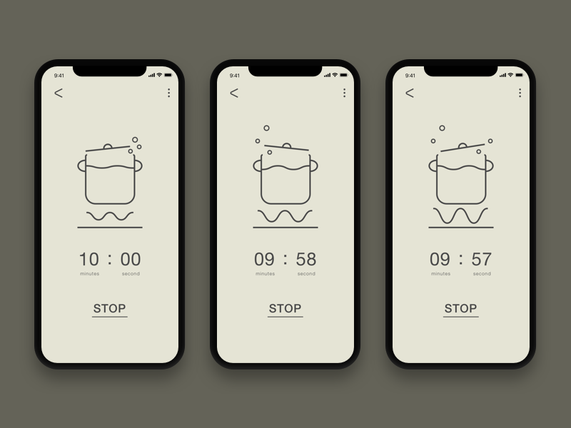 Daily UI #014-Countdown Timer timer countdowntimer countdown phone cook cooking 014 dailyui