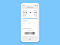 Daily UI #024-Boarding Pass