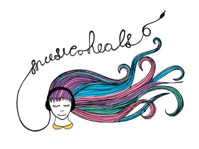 Music Heals digital illustration editorial client