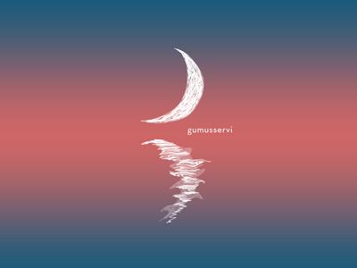 Moon Reflection - editorial illustration illustration vector editorial