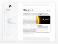 Wikipedia Layout Concept 1
