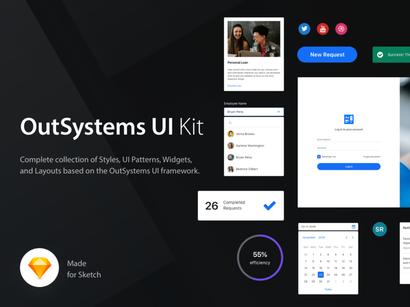 OutSystems UI Kit by João Guerra for OutSystems on Dribbble