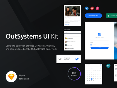OutSystems UI Kit outsystems design ui kit download free prototype patterns sketch interface app ux ui design style guide