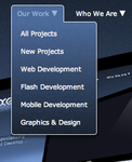 100% CSS dropdown