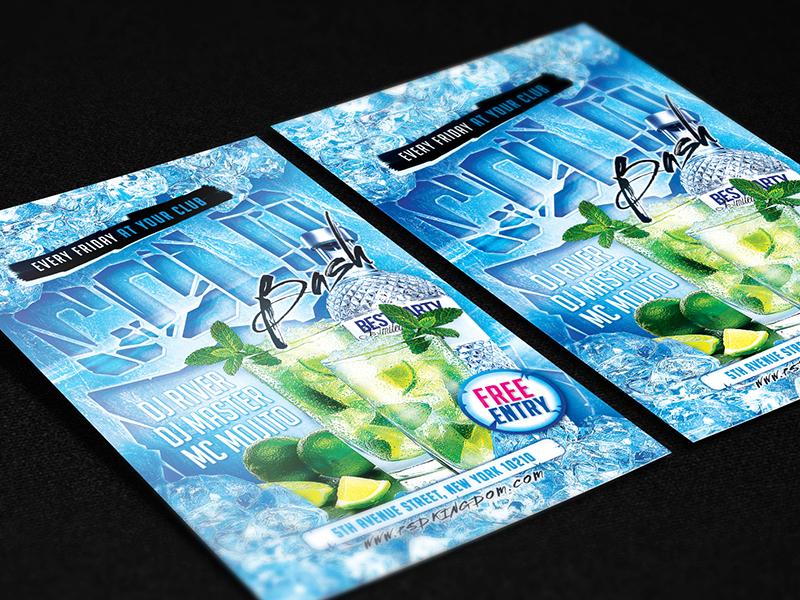 cold winter bash party flyer 4x6 by alex lasek dribbble dribbble