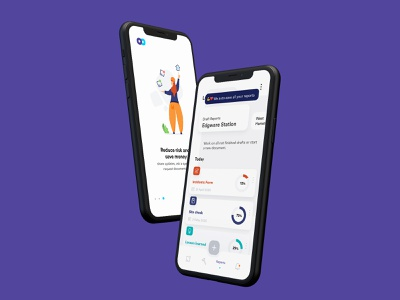 Construction Management App for iOS construction design wireframes product design ui ux mobile app