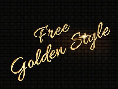 Golden Text Style - Freebie