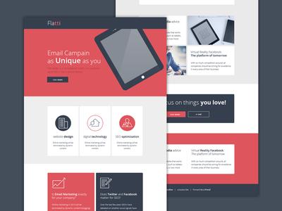 Flatti -  Newsletter Email Design
