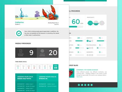 flat e-newsletter template