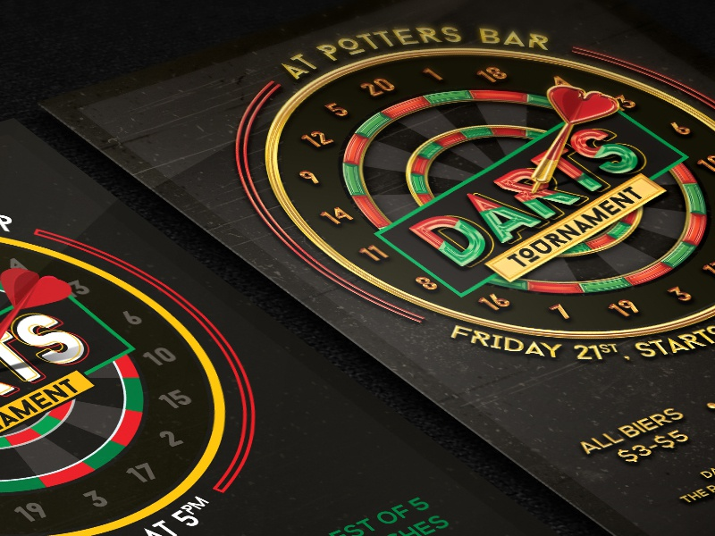 Darts For Sale >> Darts Tournament Flyer Template by Alex Lasek on Dribbble