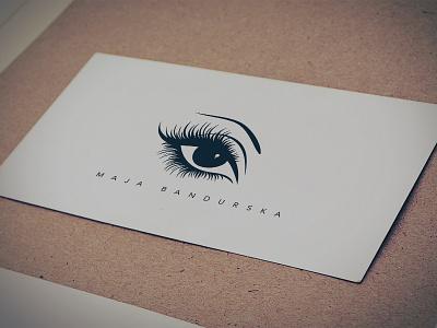 Eyelash Extensions Studio eyelash eye brand logo