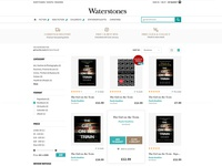 Waterstones - grid search result layout