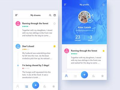 App Dream Journal - iOS ios journal dream wip ui flinto sketch mobile login concept app