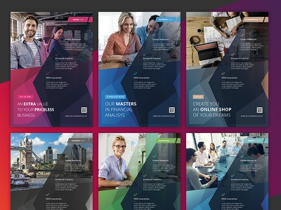 Corporate Flyer Templates 6PSD - #29 marketing social pro business corporate template flyer