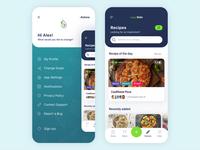veganKeto diet App ui ux flat design vegeterian app design ios ketogenic diet vegan keto mobile app