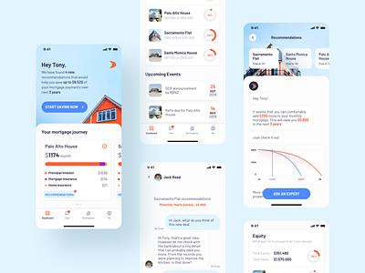 Mortgage adviser app - Mobile app design adobe xd interface ui design ux design mortgage mvp uiux ui mobile
