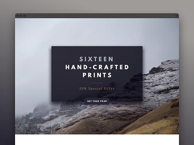 Shop Teaser stage offer website ui slide