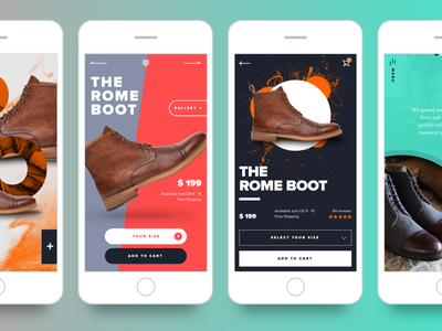 Product Pages interface app design ui pages product