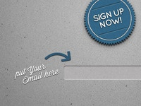 Newsletter sign-up page