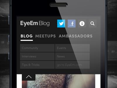 EyeEm Blog menu