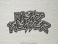 Night Fighter Title (Black & White)