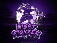 Night Fighter Mascot Logo