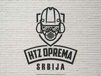 HTZ Oprema Srbija Logo  (Black & White)