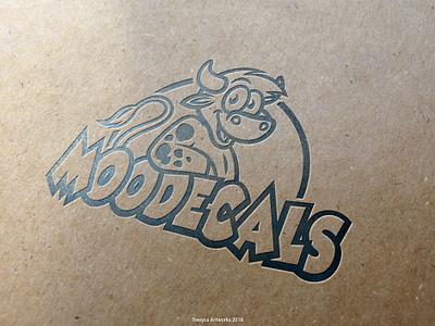 MooDecals Logo mascotlogo vectorillustration vectordesign vector moo mascotdesign mascot logo illustrator illustration design decals cow characterdesign character cartoonlogo cartoon bull