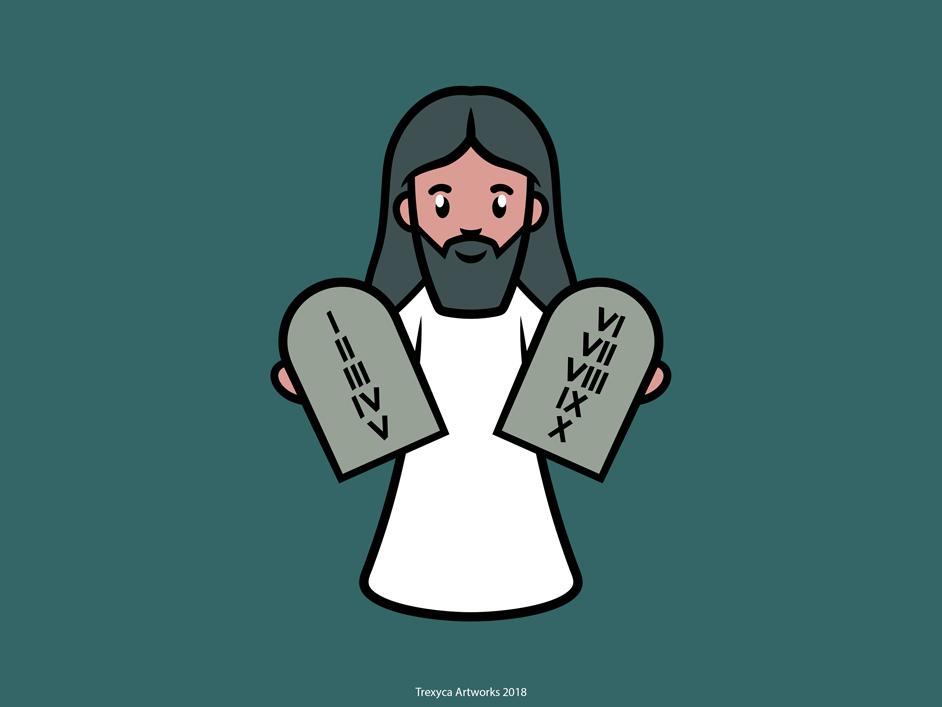 Moses moses vectorillustrator vectorillustration vectordesign vectorart bible vector saintly saint illustrator illustration holy design characterdesign character cartoon